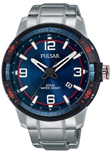 Pulsar Reloj Unisex de Analogico con Correa en Chapado en Acero Inoxidable PS9477X1