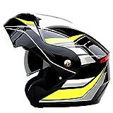 Casco de Moto Modular Integral Casco con Antivaho Doble Visera,para Cascos Adultos Mujer y Hombre Ciclomotor Scooter Racing Mofa Piloto Cruiser Chopper,Certificado ECE