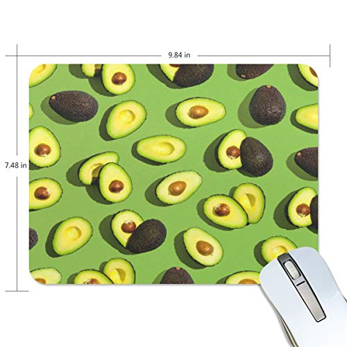 Naivey Mouse Pad Custom Summer Avocado Pattern Non-Slip Rubber Computer Mouse Pads for Girls Boys Men Women Work
