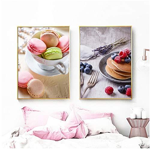 Jin Yi Global Canvas Schilderen Nordic Posters en Prints Cake Koffie Dessert Moderne Home Decoratie Keuken Muur Kunst Foto's