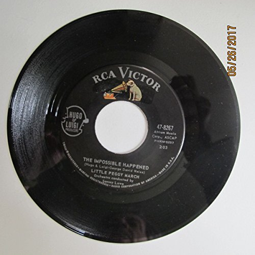 LITTLE PEGGY MARCH 45 RPM THE IMPOSSIBLE HAPPENED / WATERFALL