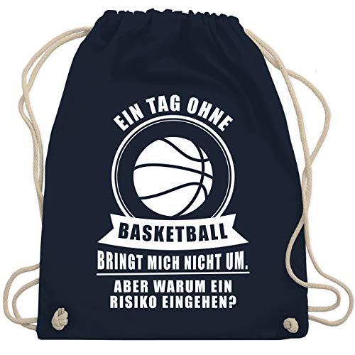 Basketball - Ein Tag ohne Basketball - Unisize - Navy Blau - basketball bag - WM110 - Turnbeutel und Stoffbeutel aus Baumwolle
