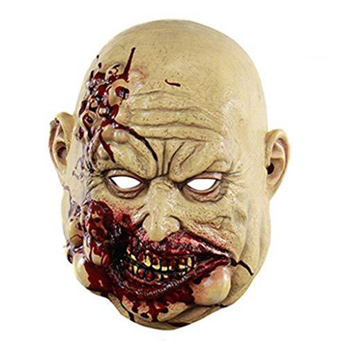 N/A. Mscara de ltex de cara completa para Halloween de horror espeluznante maldito sangriento carnicero, disfraz de fiesta de disfraces de cosplay
