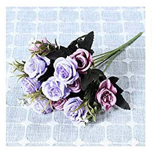 JIAHUAHUHH Single Bundle of European Artificial Flowers, Fake Flowers, Single Decorative Silk Flowers,Rosemary Purple,33cm