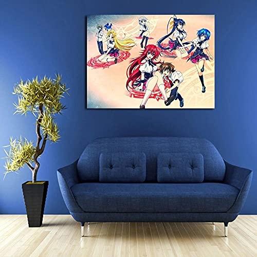 Mural 1 Piezas Pintura En Lienzo,1 Piezas Cuadros En Lienzos Equipo De Chicas De Highscho DX Modular Moderna 1 Piezas,Mural Pared Salon 3D,Decorativo Pared,Listo Para Colgar,Creative Gift Xxl