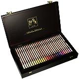 Caja de regalo de madera con 84 palillos pencils/Caran d'Ache 788.484, multicolor