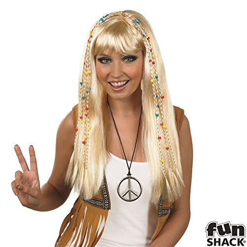 Adult 1960s Hippie Wig Womens Mens Kids Fancy Dress Accessory 7ddbf4bea9