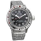 Vostok Amphibia 420867 - Reloj de buceo ruso para hombre (200 m, correa de acero inoxidable)