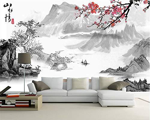 BHXIAOBAOZI behang, fotobehang, op maat gemaakte achtergrond van Chinese kunstenaarsontwerp in de decoratie TV sofa achtergrond muren muurschildering 3D wallpaper 400cm(W)×250cm(H)