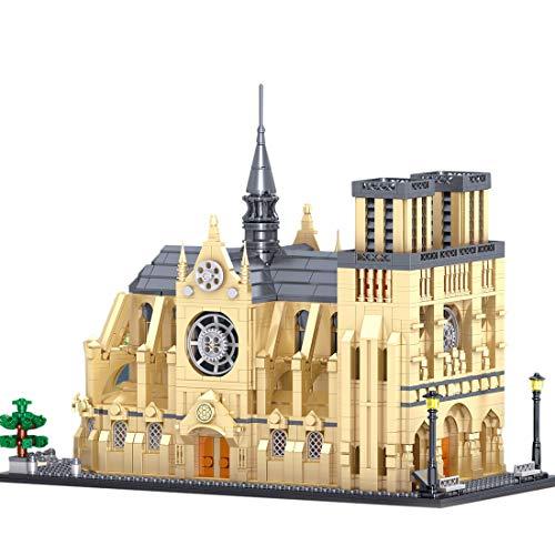 HYZM Architektur Notre Dame De Paris Bausteine, 2541 Stücke Paris Frankreich Architekturmodellbausatz, Architecture Modell Kompatibel mit Lego