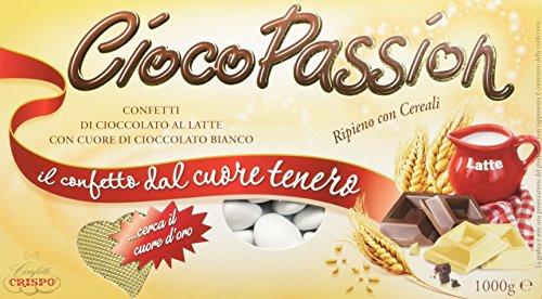 Crispo Confetti Cioco Passion Ripieno con Cereali - Colore Bianco - 3 confezioni da 1 kg [3 kg]