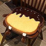 YiXing 30/40 cm Simulación Pan Toast Felpa Cojín Relleno de Espuma de Memoria Rebanada de Pan Almohada de Alimentos Sofá Silla Decoración de Cumpleaños Peluche Juguetes (Color: 40 cm Cojín1)