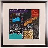 リー・フィリップス 「ニューオプションズ・3」 現代アート 絵画 抽象画 モダンアート 版画 モノタイプ 額付き