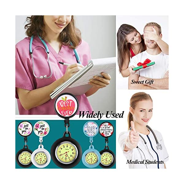 Nurse Watch, Watch with Second Hand for Nurses, Nurse Watches, Clip on Watch, Watch for Nurses,Fob Watches for Nurses,Nurses Watches for Women, Nurse Watch Clip on