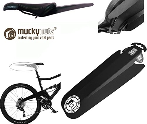 Mucky nutz butt garde-boue fender selle de vélo-noir/blanc