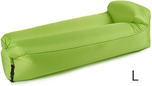 YJchairs Faules Sofa Aufblasbarer Luft-wasserdichter Strand-tragbarer Swimmingpool-schlafendes Bett (Farbe   Grün, Größe   L)