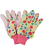 moses. Tuinhandschoenen in blad & bloemenprint voor volwassenen, vloer- en plantenhandschoenen voor werken in de tuin, perfecte bescherming en grip, (01) paar, kleurrijk
