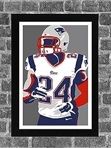 New England Patriots Darrelle Revis Portrait Sports Print Art 11x17