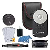 Canon RC-6 Wireless Camera Remote Control + Lens Band + Screen Protectors + Cleaning Pen + 3 Piece Cleaning Kit - for Canon Rebel SL1 T4i T5i T6i T7i T6s EOS 70D 80D 77D 6D 7D Mark II 5D Mark IV