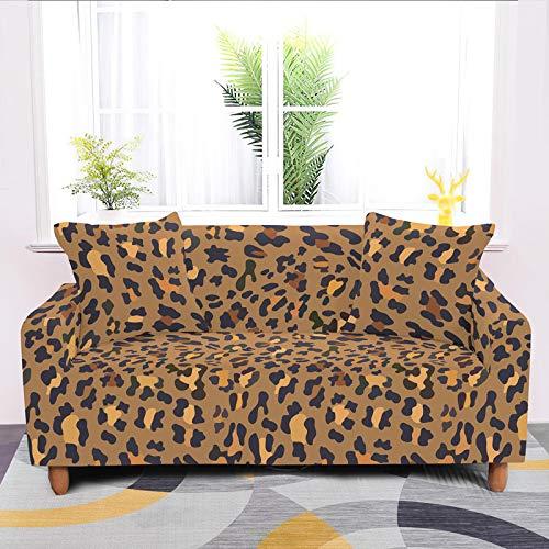 Funda De Universal Sofá,Stretch Sexy Leopard Non Slip Polyester Protector, Stretch Impermeable Anti Wrinkle Armchair Cover, Para La Sala De Estar Perro Mascota Durable Funda Deslizante, 3, Sellador