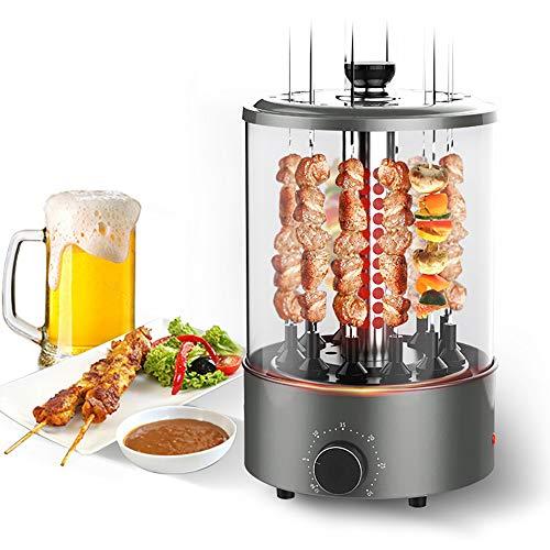 Verticale rotisserie oven, grillmachine, automatische roterende kleine elektrische grill, verstelbare timerfunctie, inbouw-oliekuip, geschikt voor familiebijeenkomsten, buitengrill, barbecue