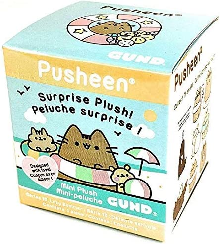 GUND Pusheen Blind Box Series 10 Lazy Summer Surprise Mystery Plush 2 75 product image
