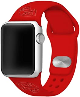 AFFINITY BANDS Western Kentucky University Hilltoppers Debossed Silicone Smart Watch Bands 38mm/40mm Red