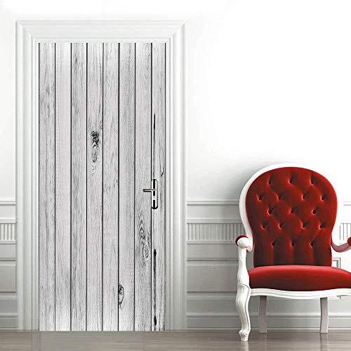 Papel Pintado Puerta 3D 77X200CM madera Vinilo Etiqueta De La Puerta Papel Tapiz Murales Pegatinas Carteles Pegatinas De Pared Diy Decoraciones DIY Mural