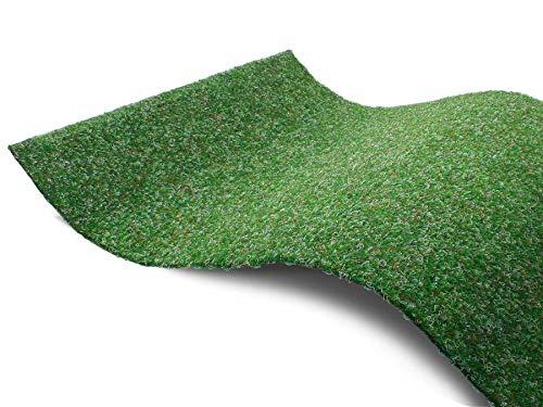 Tapis Gazon Artificiel GREEN avec Picots de Drainage - Vert 1,33m x 2,50m Tapis Type Gazon...