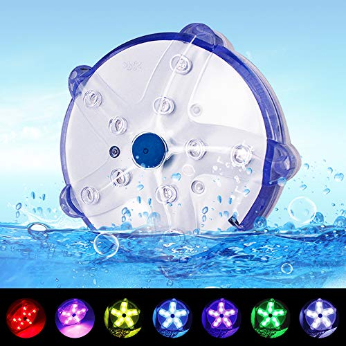 "Blufree Floating Pool Lights, LED Color-Changing Magnetic Pool Light 100% Waterproof Starfish Lamp, 3.3"" Aquarium Pond Pool Spa Bath Light. Decor for Party Event Vase Wedding Halloween"