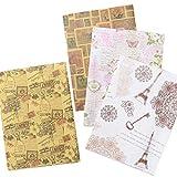 手作り工房 MY mama 包装紙4種類セット フレンチアンティークなデザイン ラッピングペーパー・ケマージュ・デコパージュ 3738