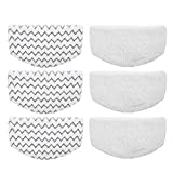 Aunifun 6 Pcs Washable Steam Mop Pads Replacement for Bissell Powerfresh 1940 Series, 1544A, 2075A, 1440,...