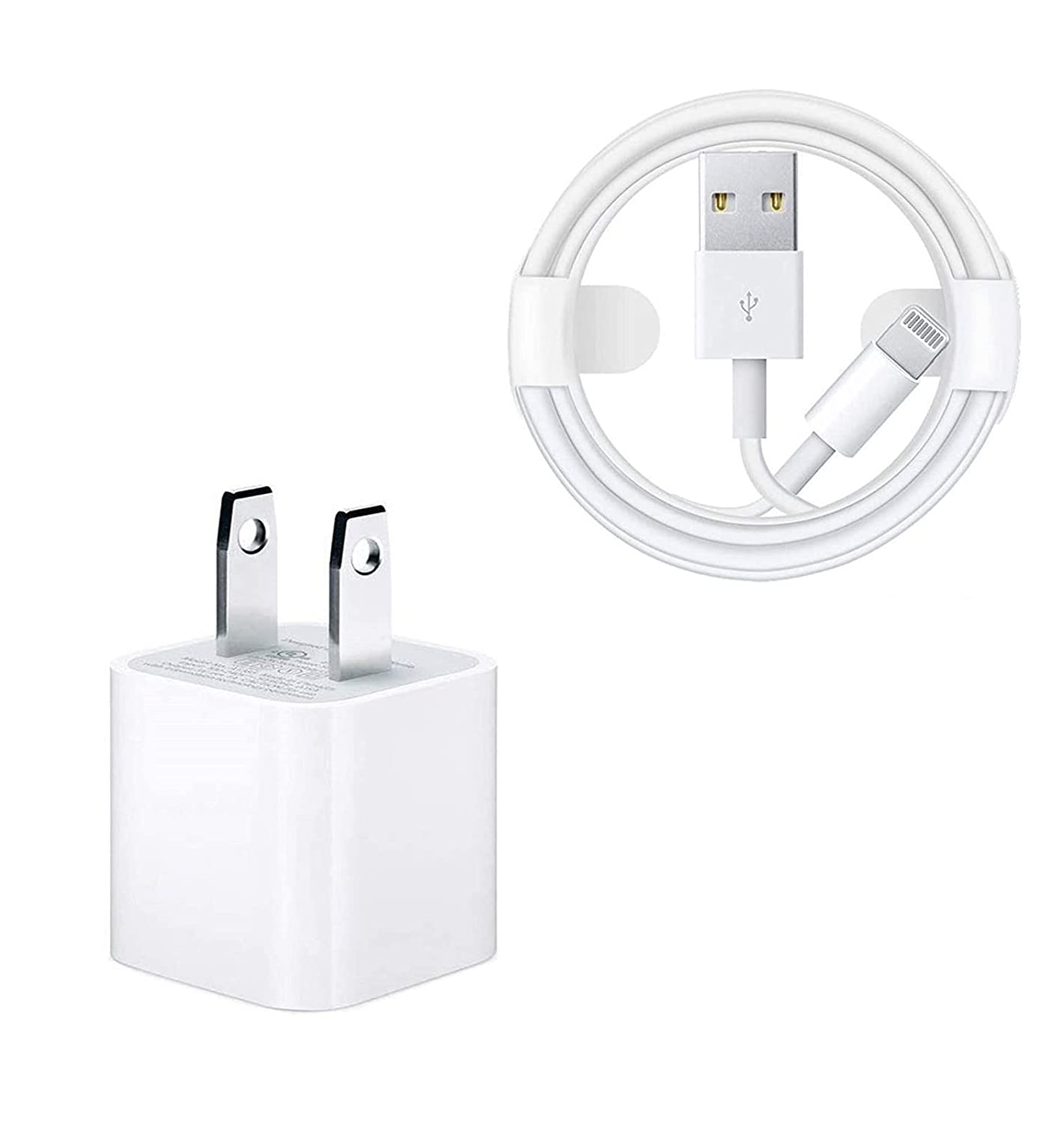 iPhone Charger, Apple MFi Certified 6FT Lightning to USB Fast Charging Data Sync Transfer Cable with USB Wall Charger Adapter Travel Plug Block (UL Listed) for iPhone 12/11/SE 2020/XS/XR/X/8 7 6, iPad