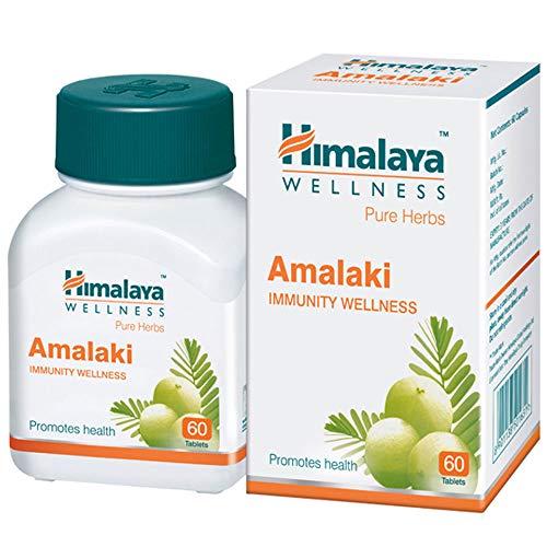 Himalaya Amla C (Amalaki) - Fuente natural más rica de vitamina C - Antioxidante potente - 250 mg, 60 bio cápsulas vegetarianas (desde 1930)