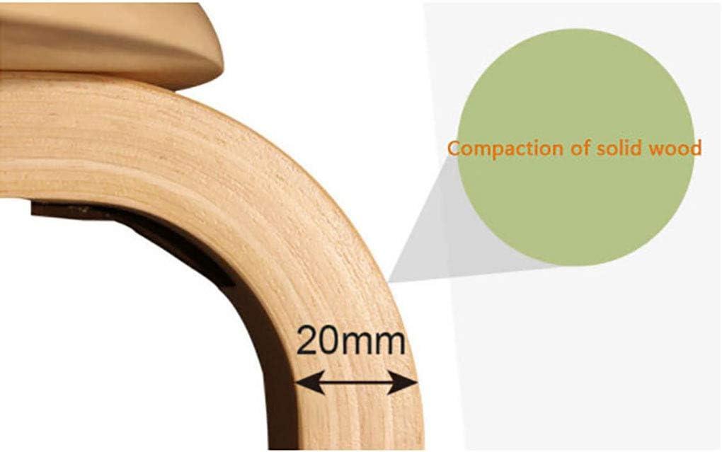 Modern Minimalist - Tabouret de Table à Manger - Banc en Bois courbé - Tabouret de Loisirs - Tabouret en Bois Massif - Banc de Salon - (A-G40 * 40 * 44CM) (Color : D) C