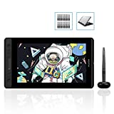 HUION Kamvas Pro 13 GT-133 Drawing Tablet with Full Laminated Screen 13.3inch Graphics Monitor Pen Display with Battery-Free Stylus 8192 Pen Pressure Tilt Touch Bar, Stand Included