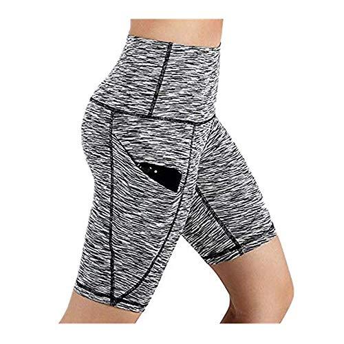 Dasongff korte sportlegging voor dames, yogabroek, workout-shorts, hoge taille, sportlegging met zakken