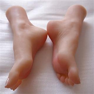 قدم عارضة أزياء من السيليكون ، نموذج قدم 36A , توبي قدم قدم واحد حقيقي 1: 1 قالب قدم سيليكون ناعم ، أحذية رياضية وجورب مجم...