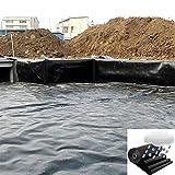 BAIYING HDPE Gartenpoolmembran, Anti-Versickerung Glatt Reißfestigkeit Flexibel Einfach Zu Säubern Verstärken Verschönern Fischteichauskleidung (Color : Black, Size : 1x5m)