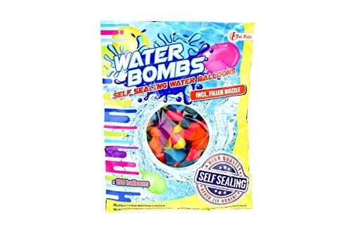 Toi-Toys 65823A Wasserbomben Set Wasserballons bunt für Wasserschlacht draußen (ohne Pumpe)