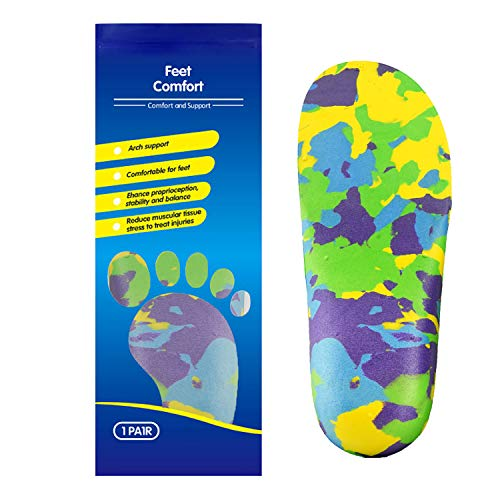 Kids Orthopedic Shoe Insoles with Arch Support for Children's Heel Pain Growing Pains, Flat Feet (2)