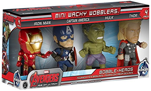 Wobbler: Marvel: Los Vengadores: Iron Man + Capitán América + Hulk + Thor