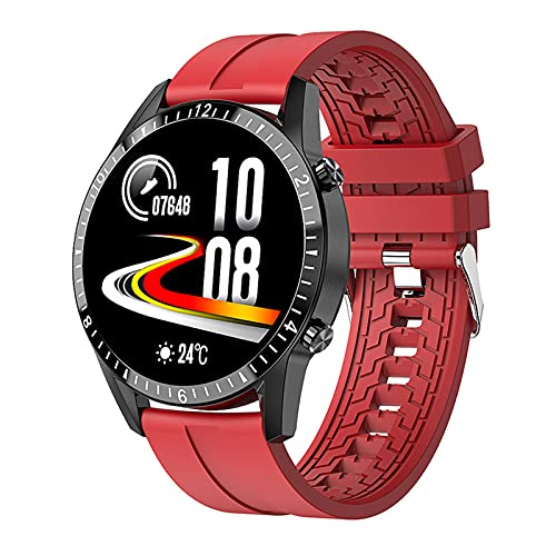 shjjyp Relojes Inteligentes Hombre Smartwatch Llamada Bluetooth con Pulsómetro Podómetro Monitor De Sueño Pulsera De Actividad Smartwatch Inteligentes Hombre para iOS Y Android,B