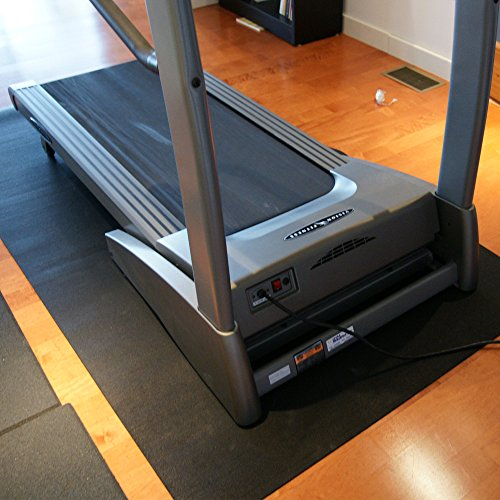 Rubber-Cal Treadmill Mat For Hardwood