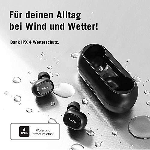 QCY T1 Bluetooth 5.0 Sport-Kopfhörer In-Ear, 20 Stunden Akkulaufzeit, Wireless kabellos für iPhone Android mit starkem Powerbank, IPX4 wasserdicht und Mikrofon Bild 4*