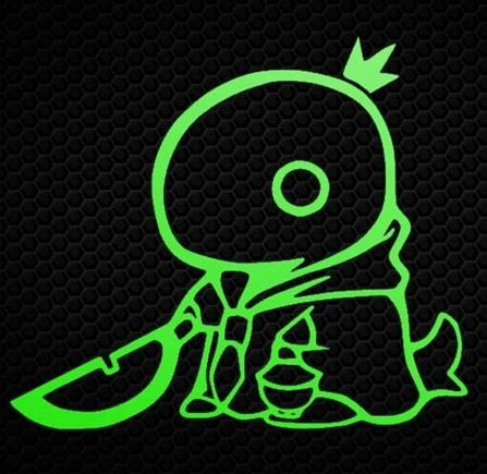 FINAL FANTASY VIDEO GAME TONBERRY STICKERS SYMBOL 5.5' DECORATIVE DIE CUT DECAL FOR CARS TABLETS LAPTOPS SKATEBOARD - GREEN