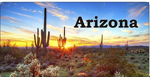Arizona Desert Sunset #2 Photo License Plate