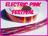 NEW! 60 ft. roll of 3/4' Electric Pink Festival Metallic Hula Hoop Craft Tape