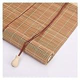 RZEMIN Persianas Enrollables, ParticióN Ajustable, Persiana Enrollable de Madera de Bambú Natural Para Cocina, 56 TamañO (Color : A, Size : 130cmX150cm)