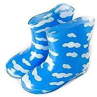子供用 ながぐつ レインブーツ 長靴 男の子 女の子 ベビー キッズ 雨 傘 (15cm, ふわふわくも)